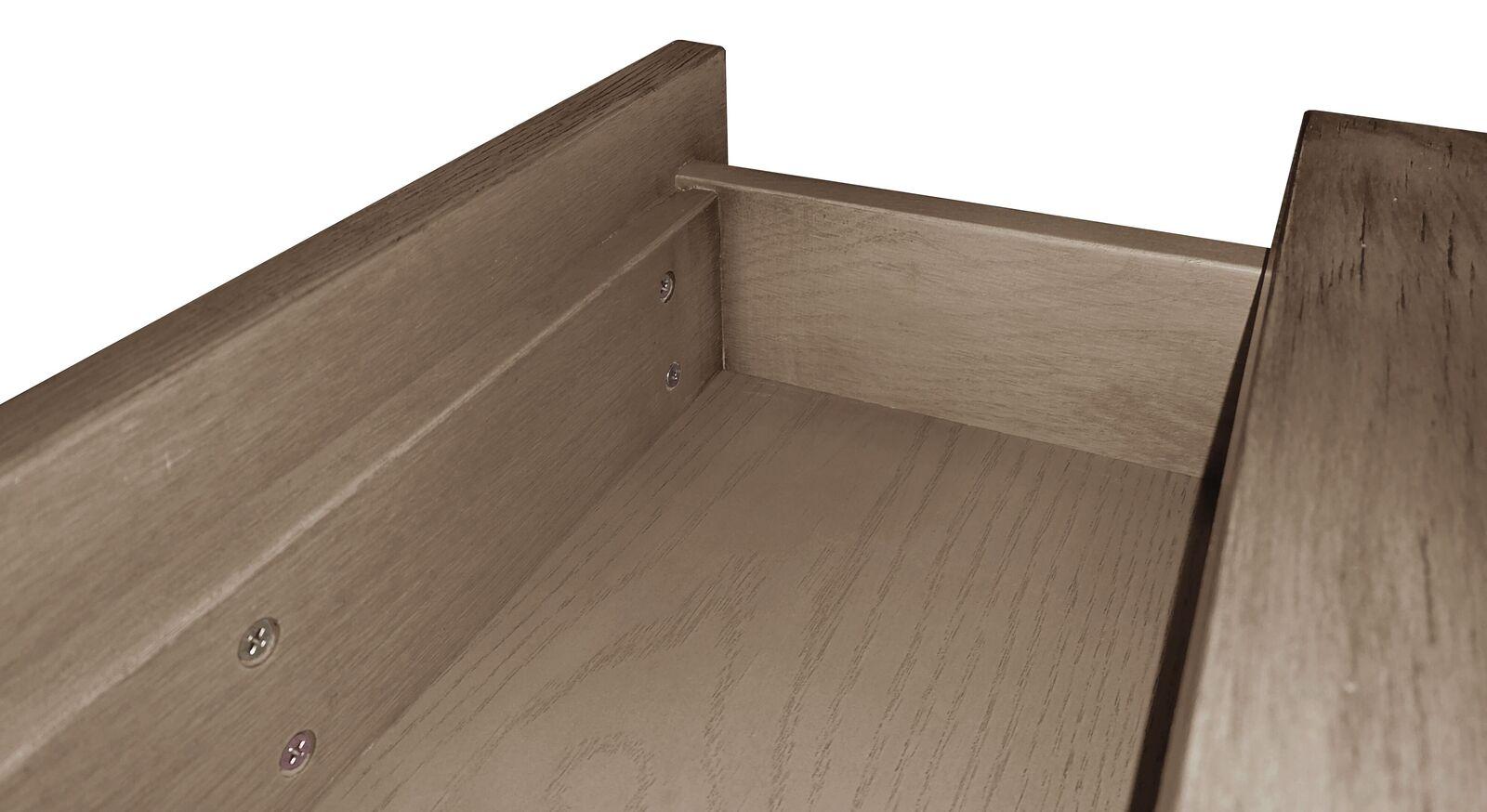 Schubladen-Nachttisch Quesada mit gedämpftem Selbsteinzug