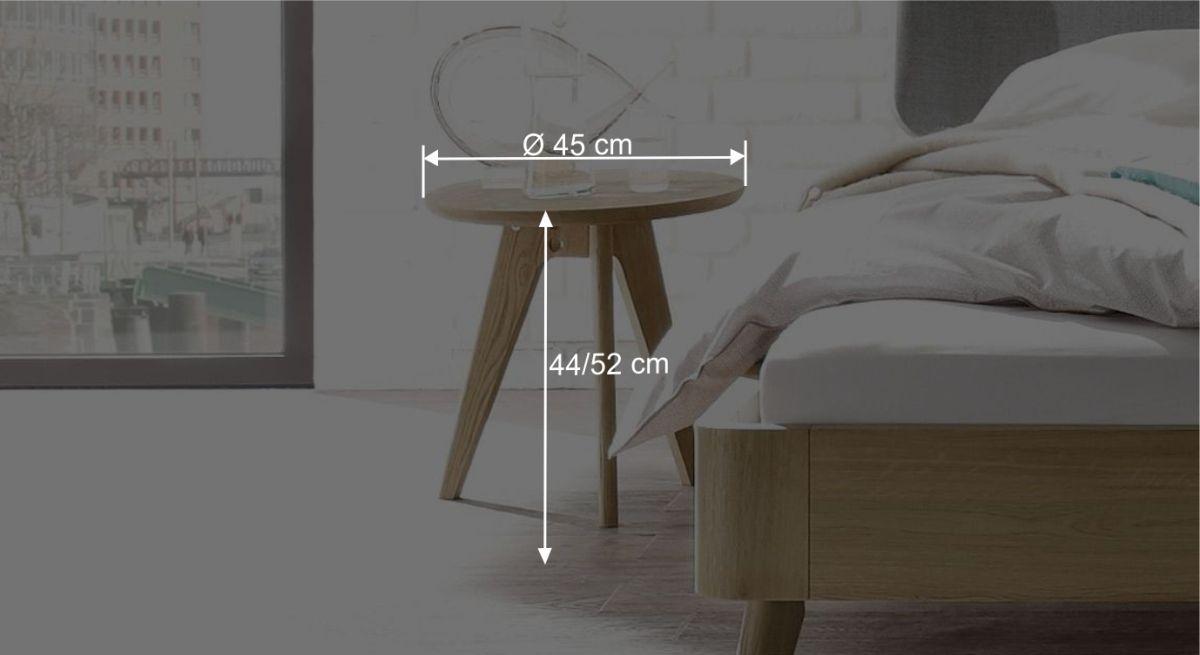 Nachttisch Rakaias Bemaßungsgröße