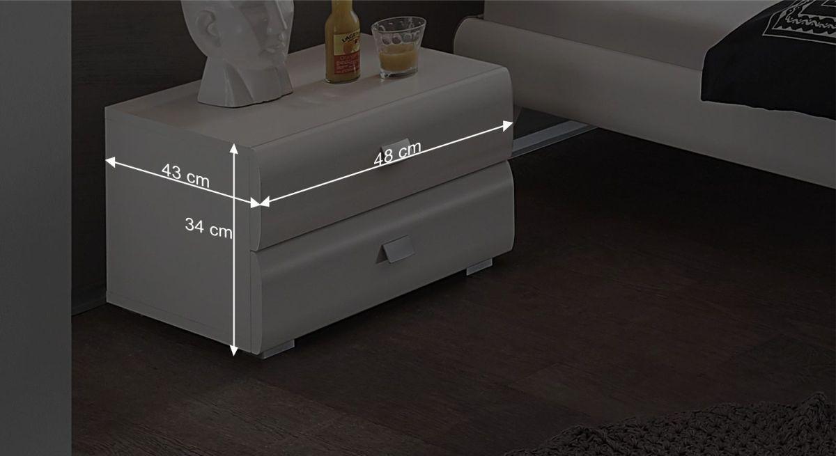 Nachttisch Rotondos Bemaßungsgrafik