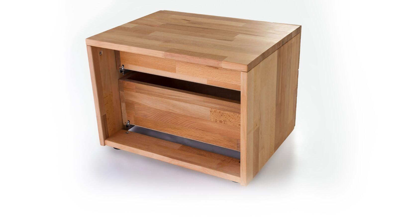 Nachttisch Tamira aus robustem Massivholz