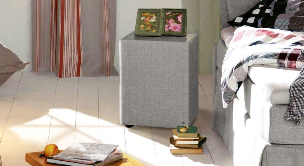Nachttisch Tom Tailor Cushion mit hellgrauem Stoffbezug