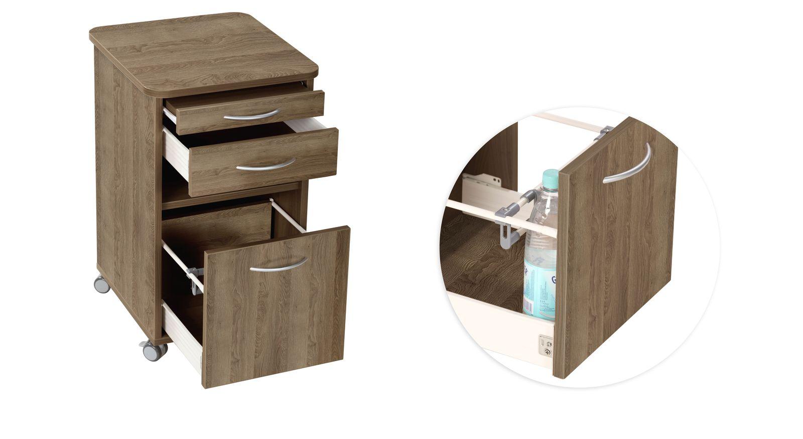 Nachttisch Usedom mit Schubladen und Tableau-Auszug