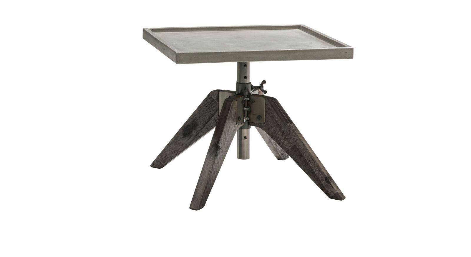 Nachttisch Velario in Akazie Vintage grau