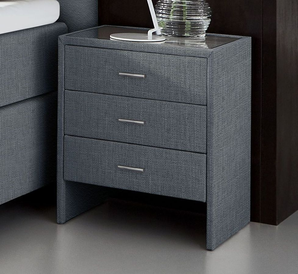 breite nachtkonsole mit webstoff bezogen vincenzo komfort. Black Bedroom Furniture Sets. Home Design Ideas