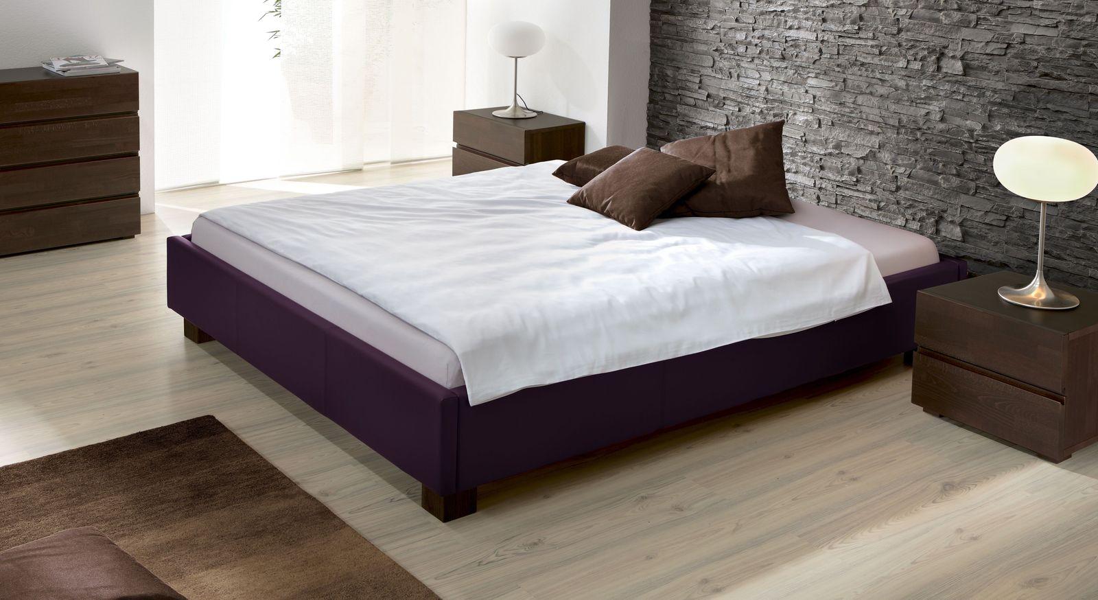Polster-Liege Amore aus violettem Kunstleder