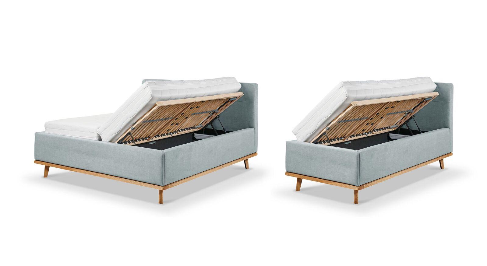 Varianten der Bettkasten-Öffnungen für Polsterbett Delphi