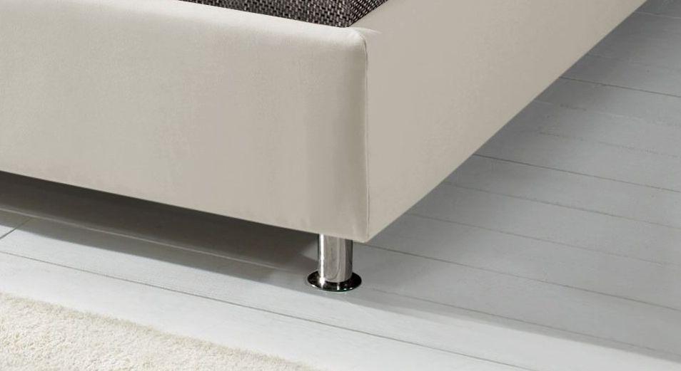 Polsterbett Messina mit runden Chrom-Füßen