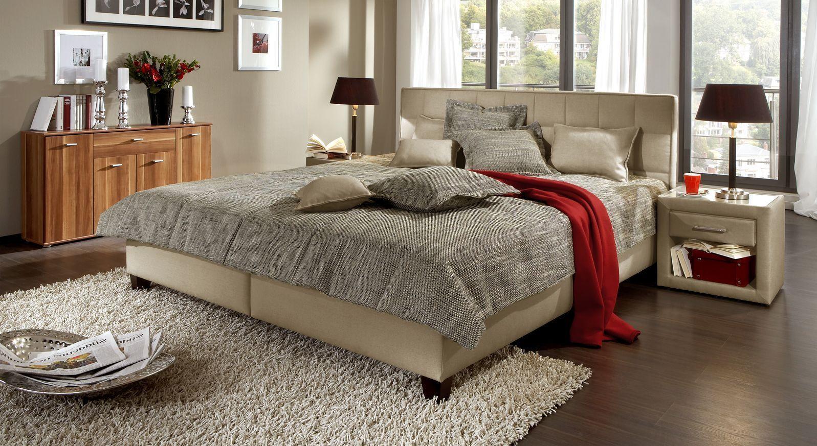 Das hochwertige Polsterbett erhalten Sie in der Farbe natur online bei Betten.de