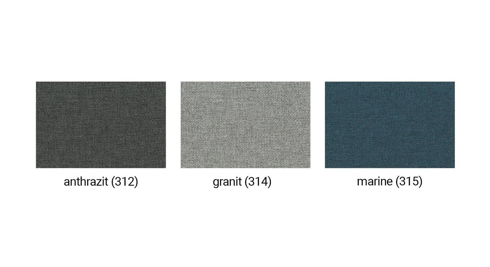 Farbübersicht des Polyester-Stoffbezugs zum Tagesbett