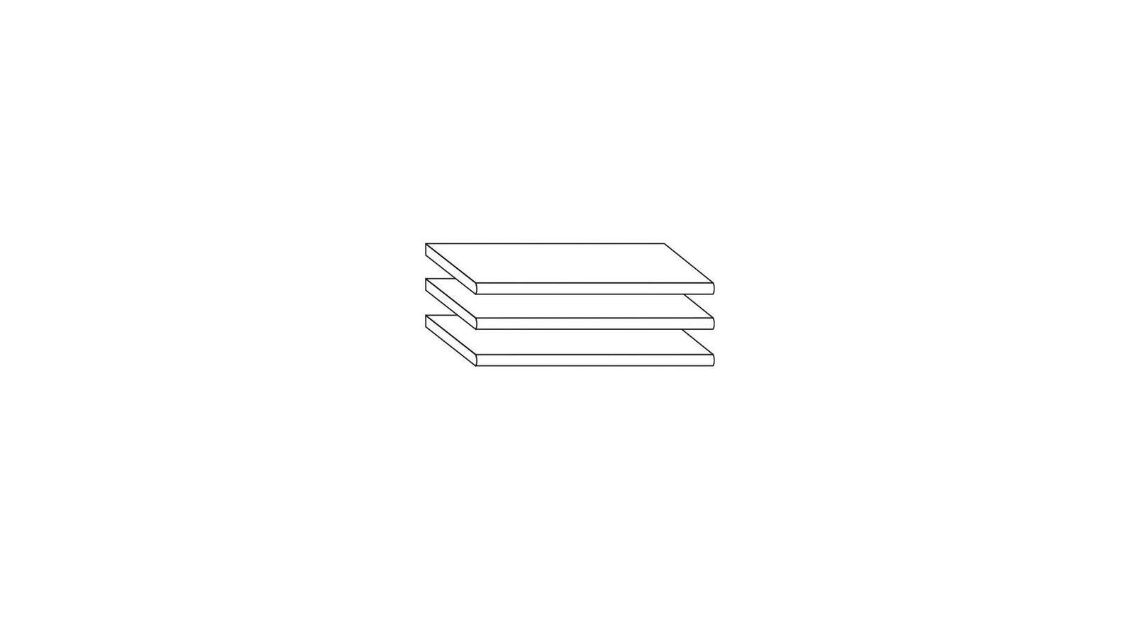 Praktische Innenausstattung Kleiderschrank 3er-Set Einlegeboden schmal