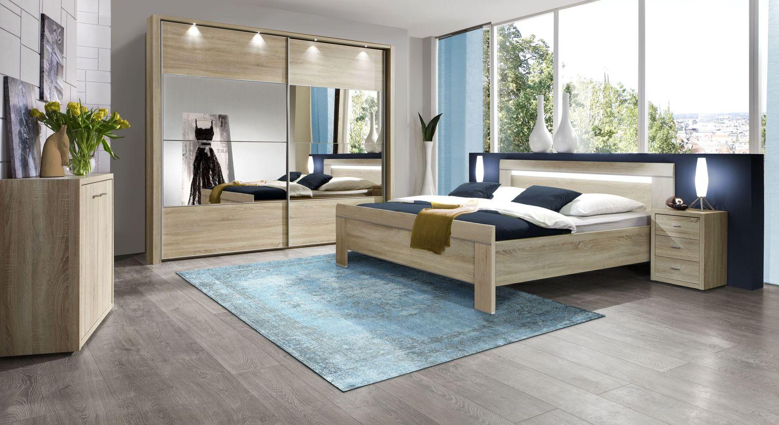 Preiswertes und zeitloses Komplett-Schlafzimmer Seymour