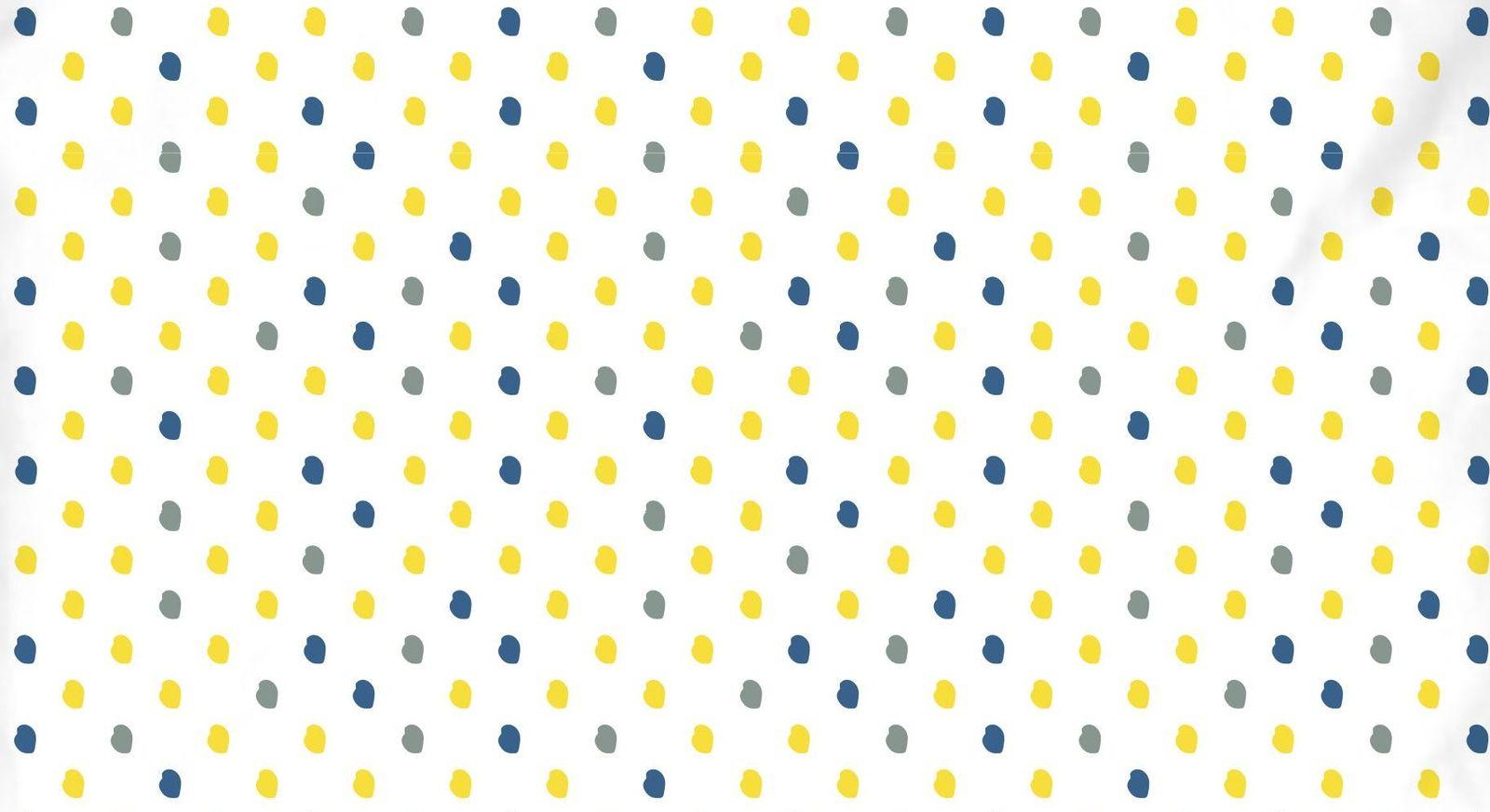 Renforcé-Bettwäsche Meeresbrise mit Punkten in Blau und Gelb