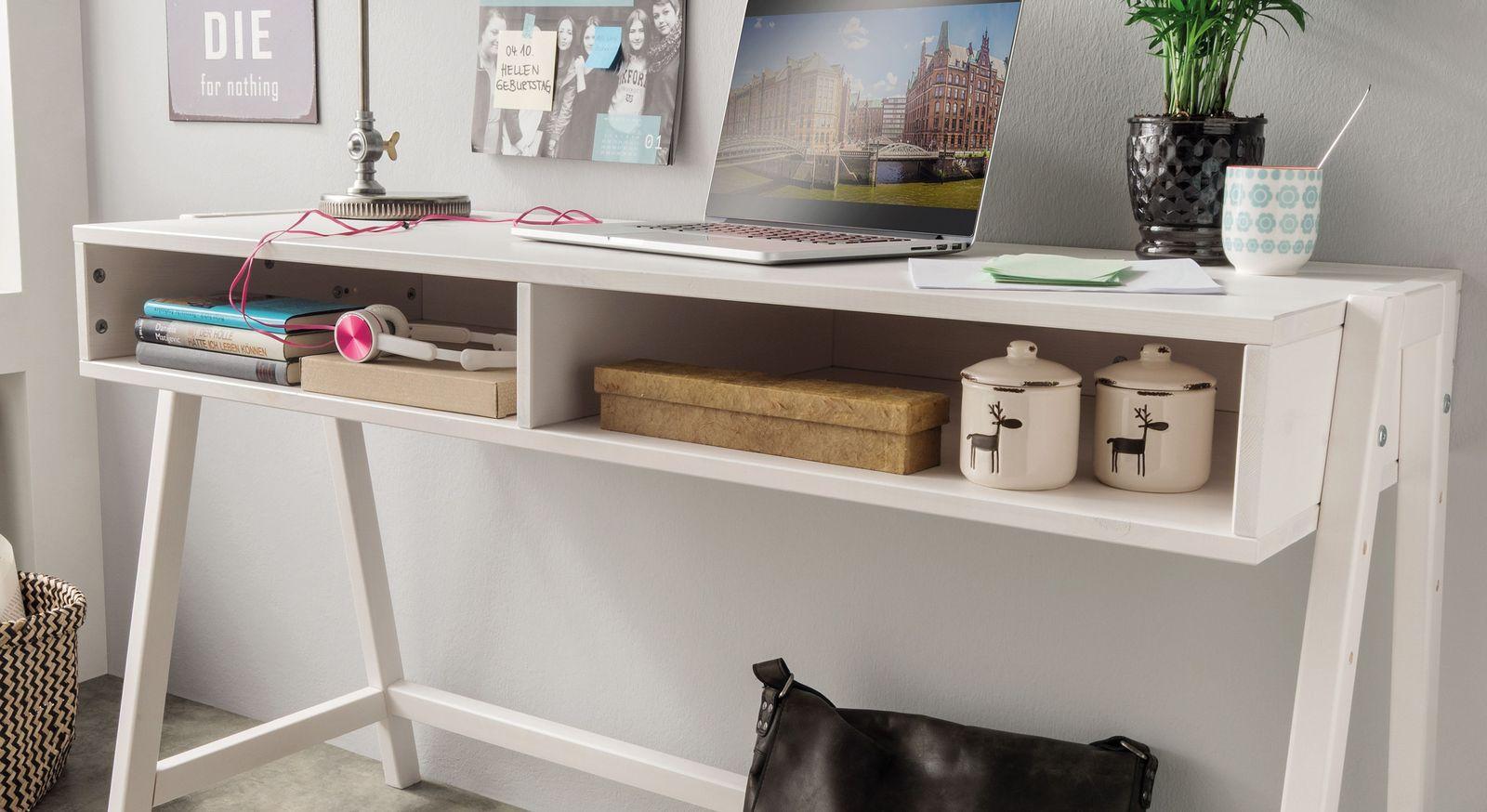 Retro-Schreibtisch Kids Paradise höhenverstellbar mit Fächern für Stauraum