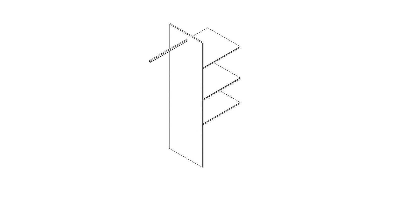 Robuste Innenausstattung Kleiderschrank breite Trennwand mit Einlegeböden