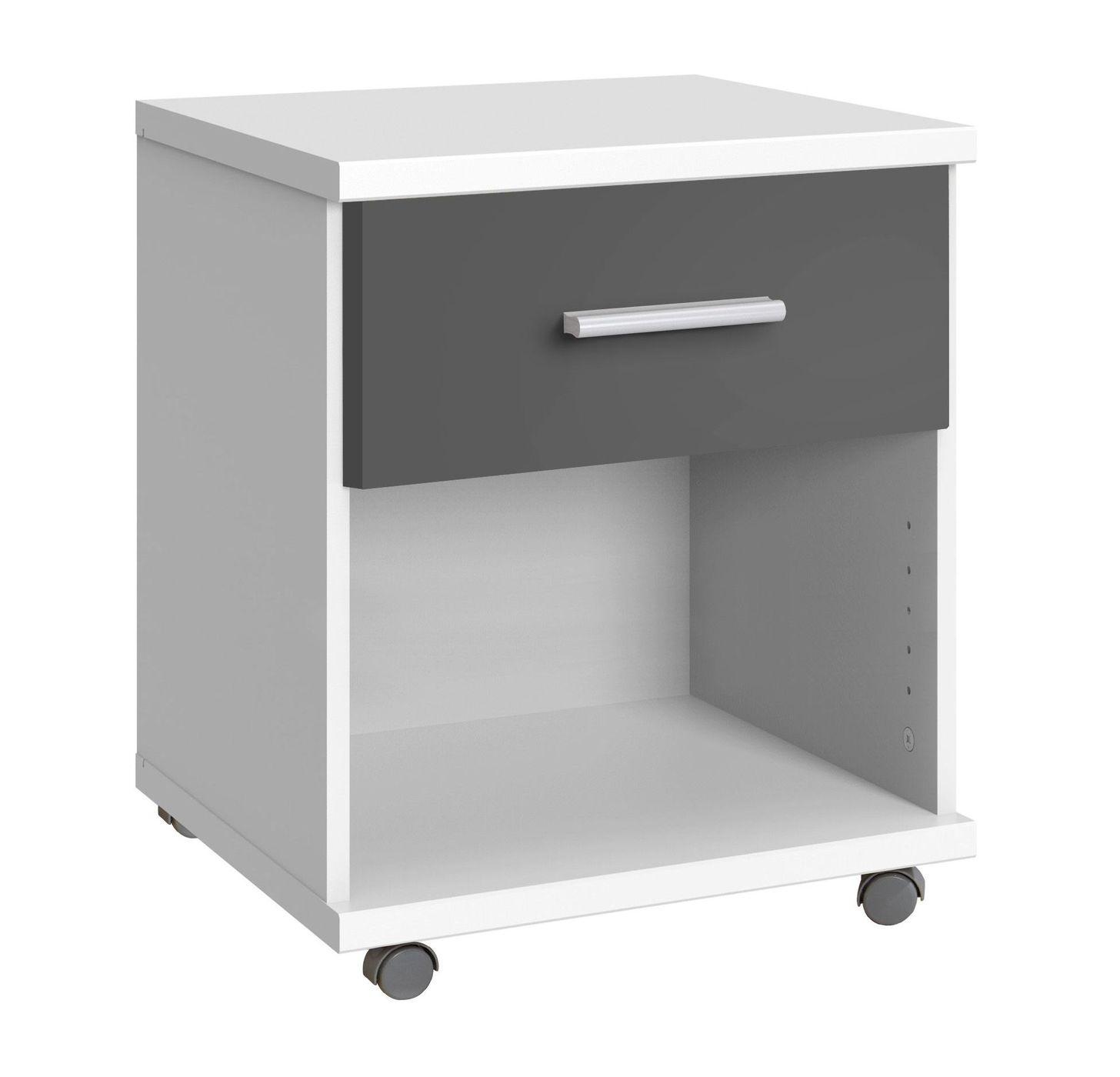Bezaubernd Rollcontainer Kunststoff Ideen Von Neben Einem Offenen Fach Verfügt Das Möbel