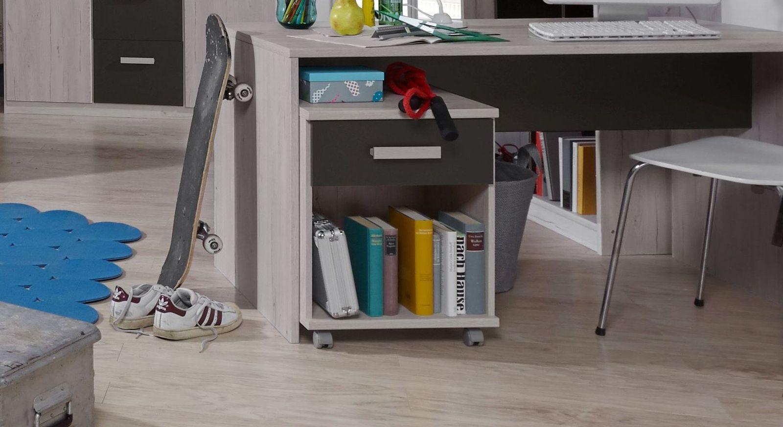 Schreibtisch Rollcontainer Mit Schublade Offenem Fach Mereto