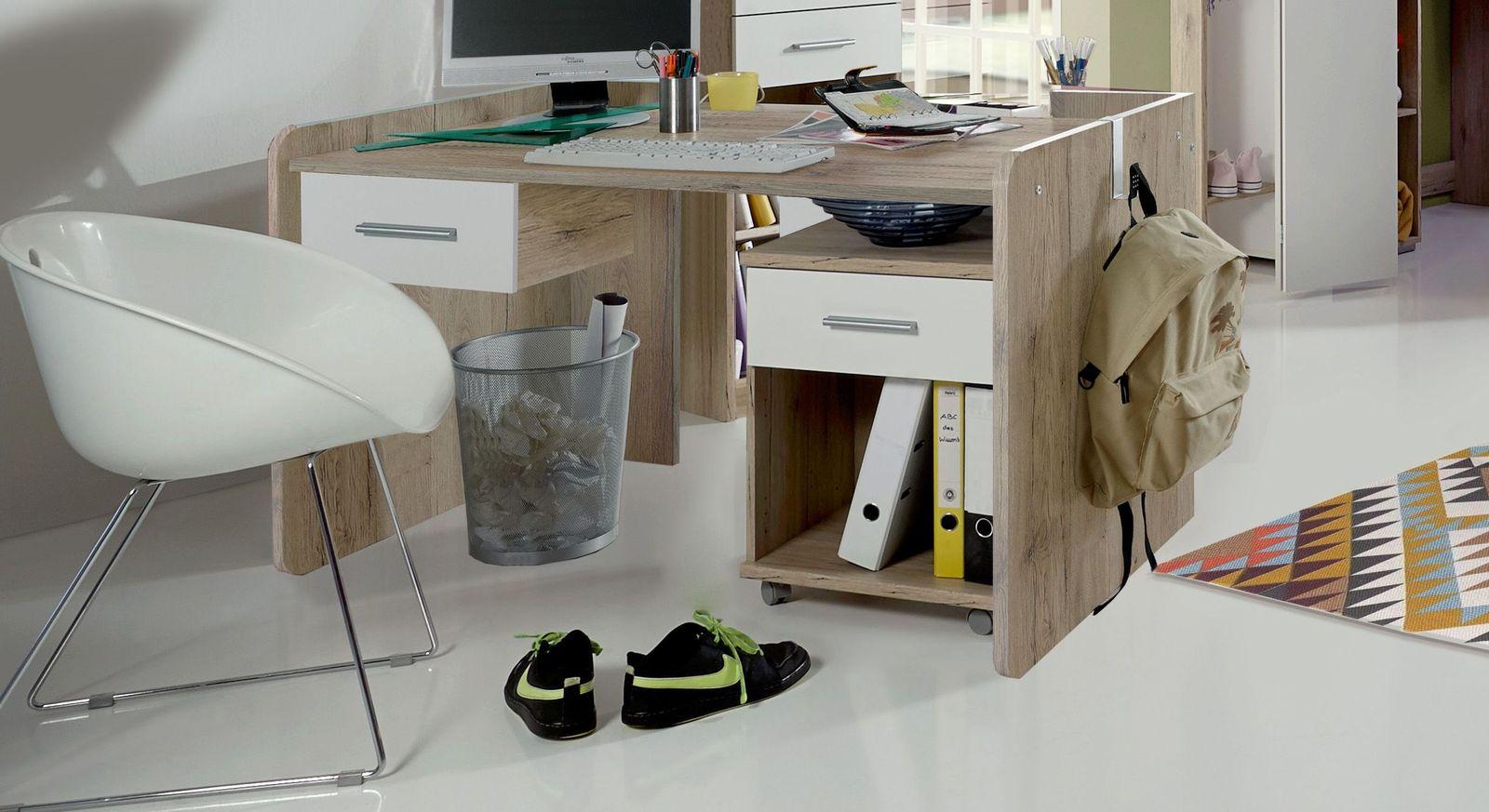 Rollcontainer Zagra mit passendem Schreibtisch