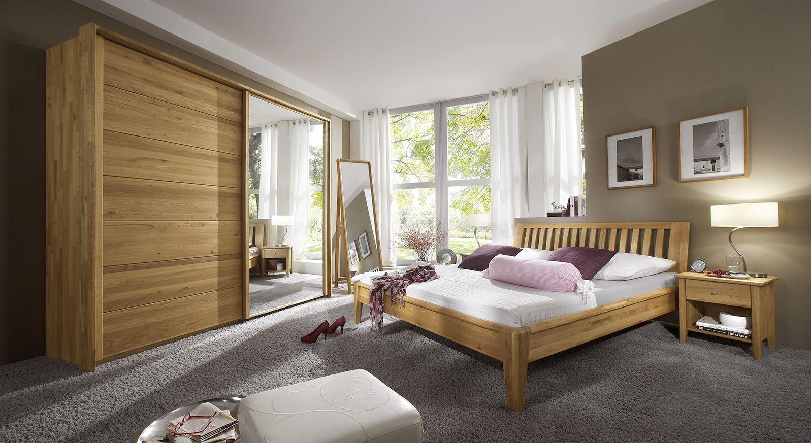 komplett schlafzimmer aus massivholz eiche roseville. Black Bedroom Furniture Sets. Home Design Ideas
