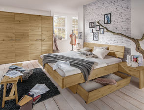 Rustikales Schlafzimmer schlafzimmer aus massivholz günstig kaufen betten de