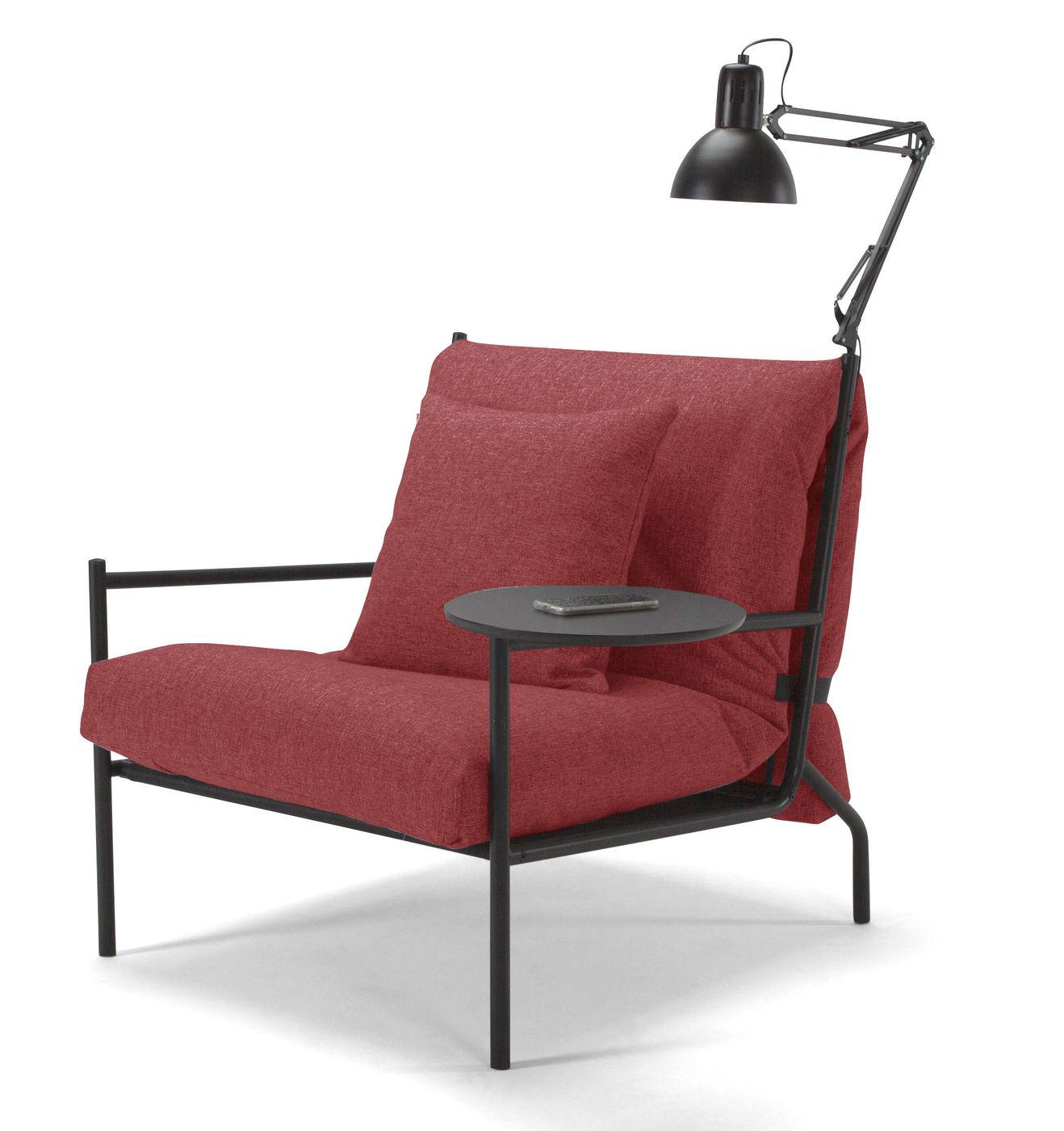 Schlafsessel design  Design-Schlafsessel in Webstoff mit Schaummatratze - Staines