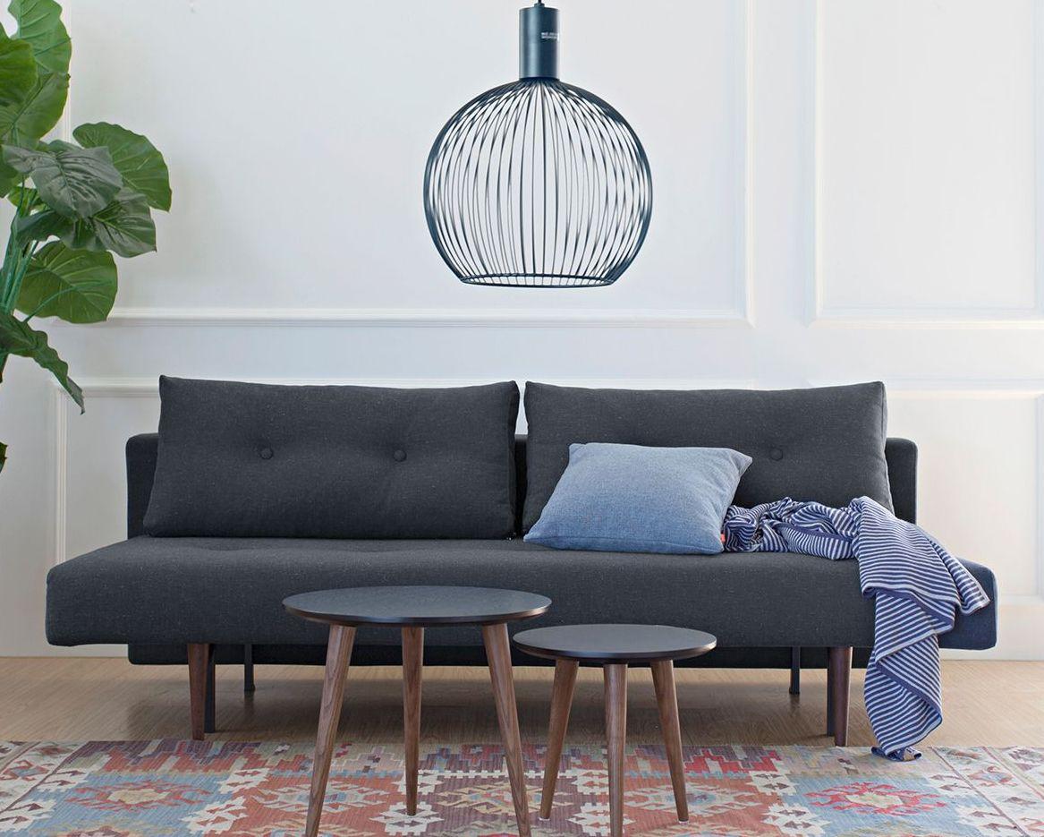 querschl fer schlafsofa im retrostil in grau oder blau. Black Bedroom Furniture Sets. Home Design Ideas