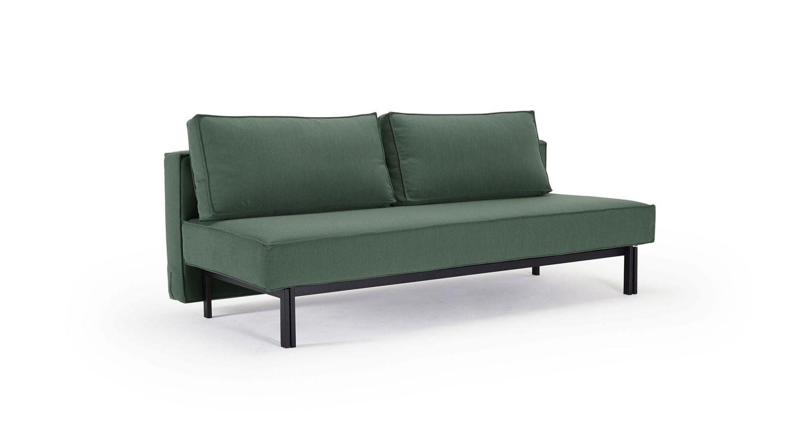 Modernes Schlafsofa Ellwood in grünem Bezug aus Elegance