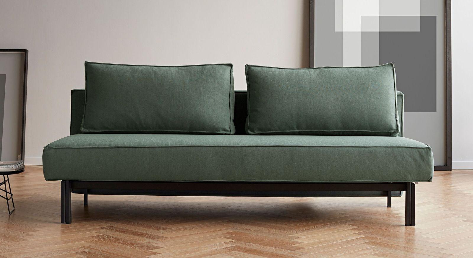 Schlafsofa Ellwood in grünem Elegance-Stoff