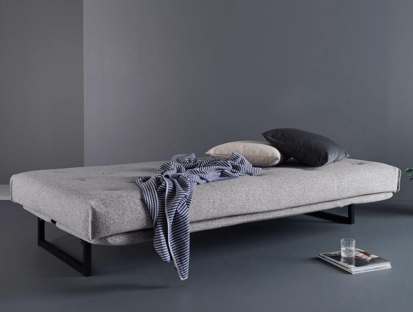 designer schlafsofa f r jede nacht schwarzes gestell frentano. Black Bedroom Furniture Sets. Home Design Ideas