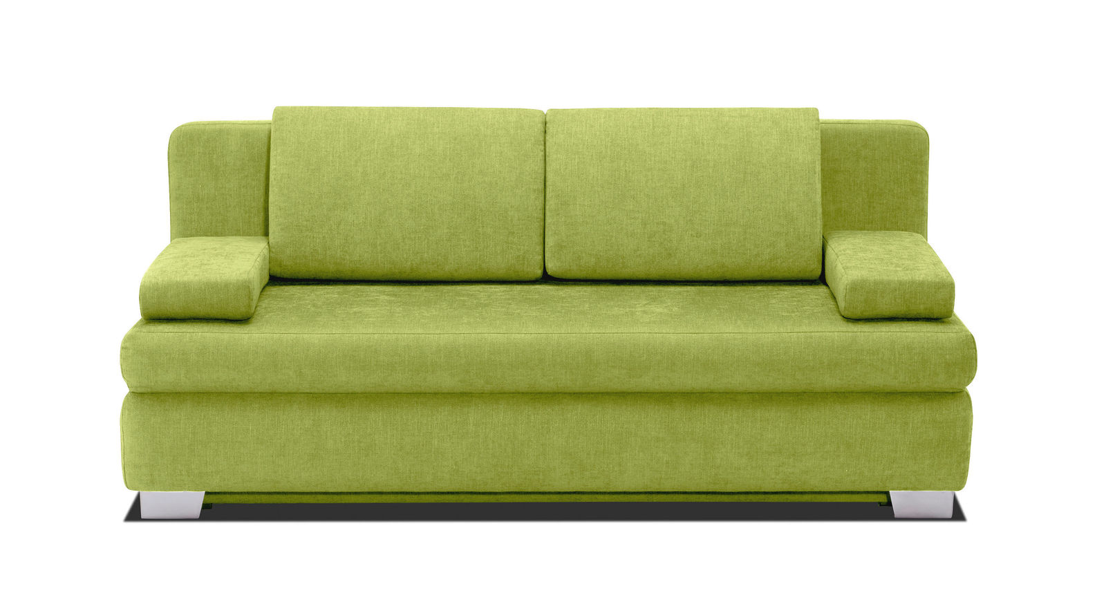 Modernes Schlafsofa Hill-Brook mit Webstoff in Limette
