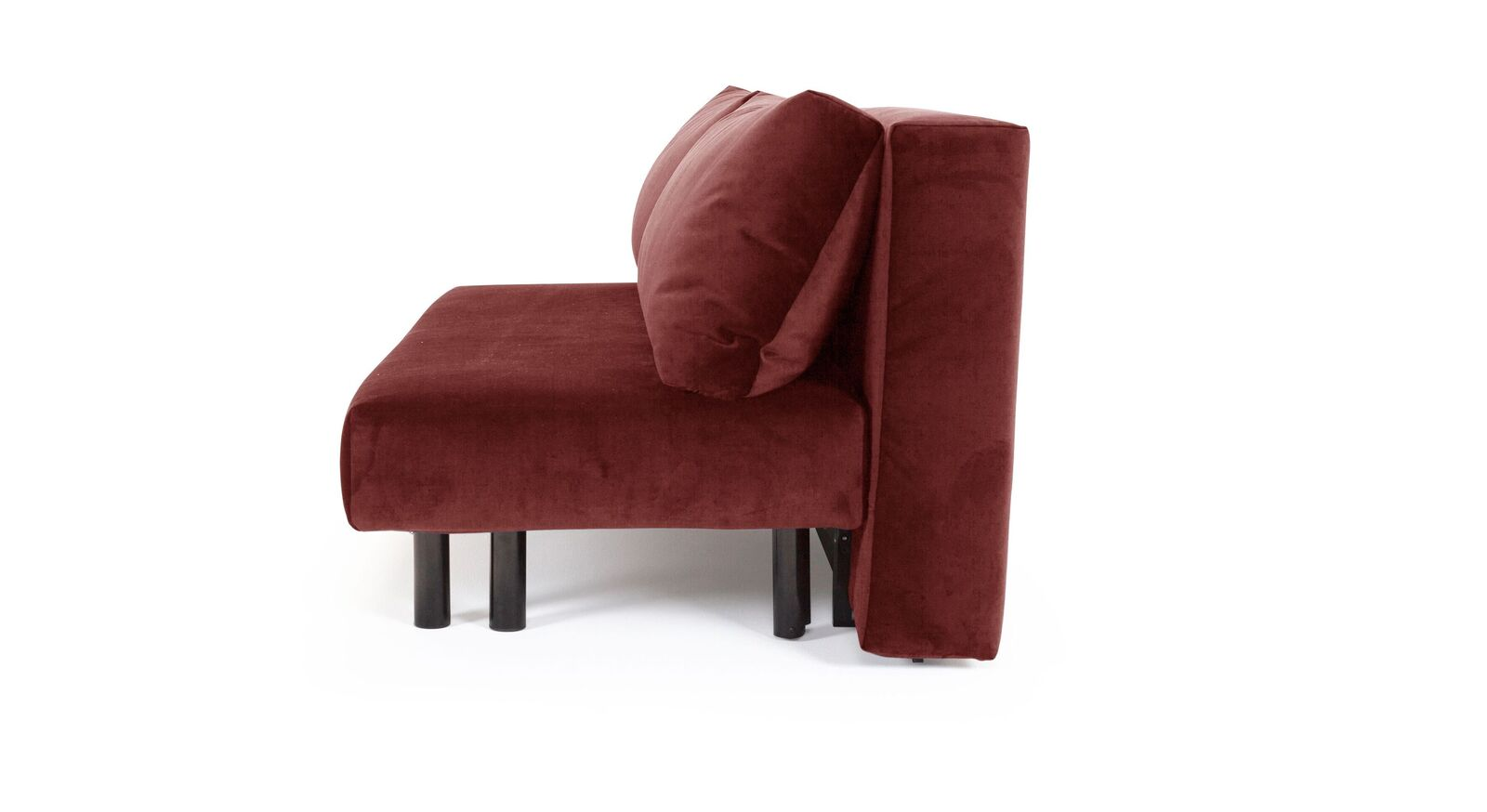 Modernes Schlafsofa Jenkis mit rotem Samtbezug
