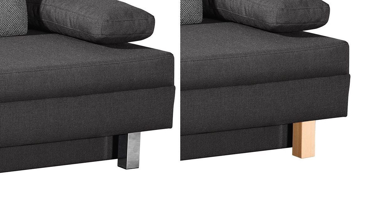 schlafsofa in 150x200 cm mit bettkasten und hubmatik hill brook. Black Bedroom Furniture Sets. Home Design Ideas