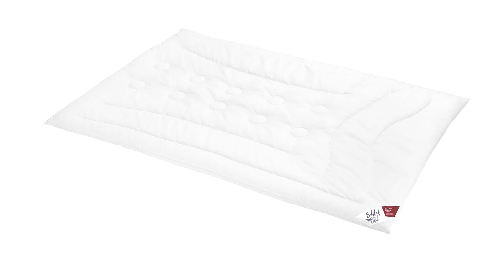 SCHLAFSTIL Cashmere-Flaum-Bettdecke N700 extra warm für die kalte Jahreszeit