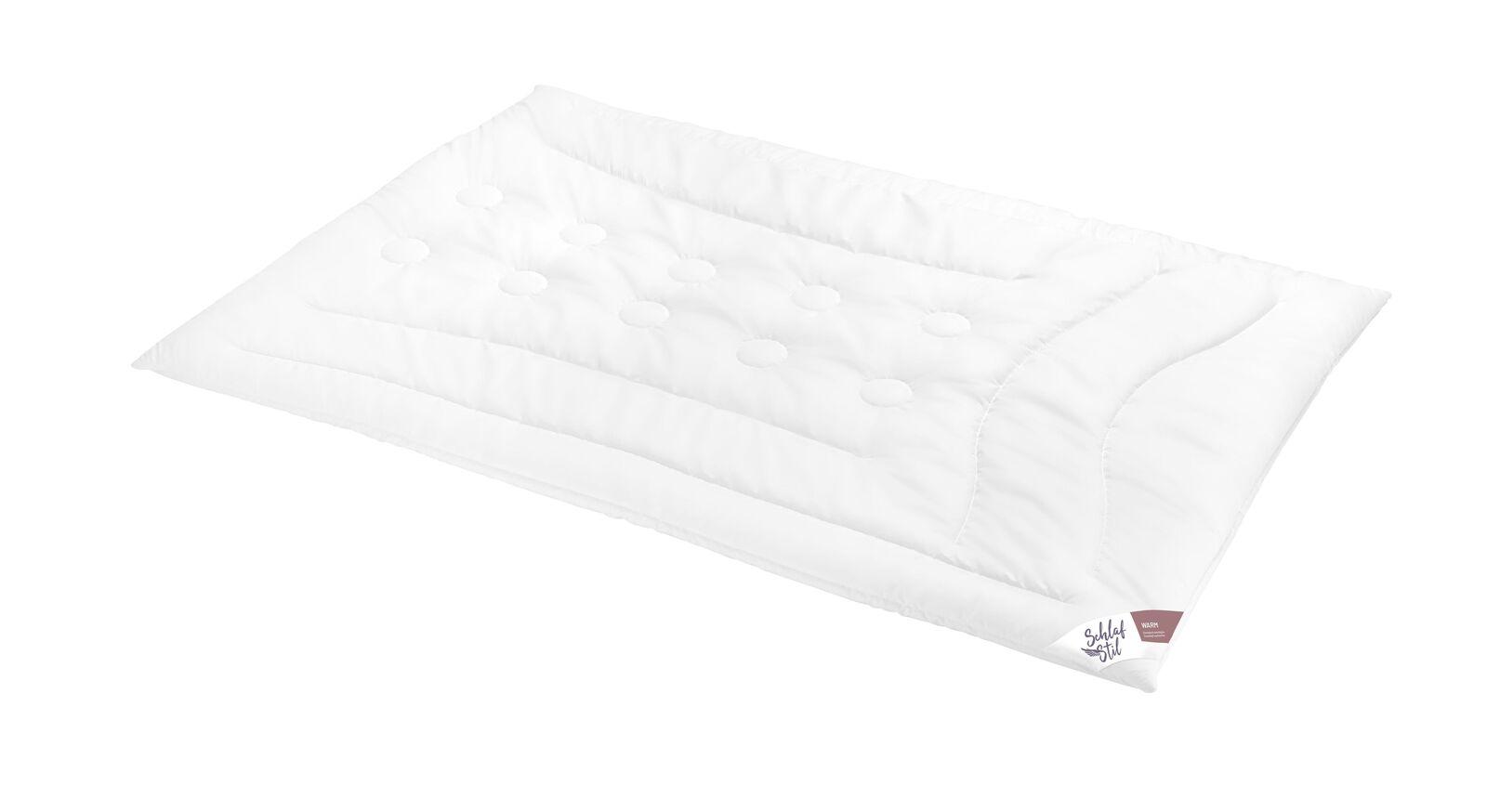 SCHLAFSTIL Cashmere-Flaum-Bettdecke N700 warm für Wintermonate