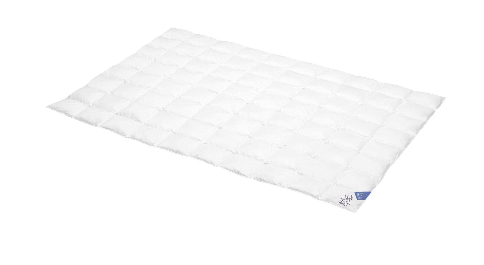 SCHLAFSTIL Daunen-Bettdecke D500 extra leicht mit Baumwollbezug
