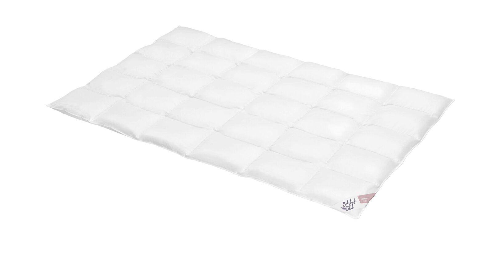 SCHLAFSTIL Daunen-Bettdecke D500 normal mit Baumwollbezug