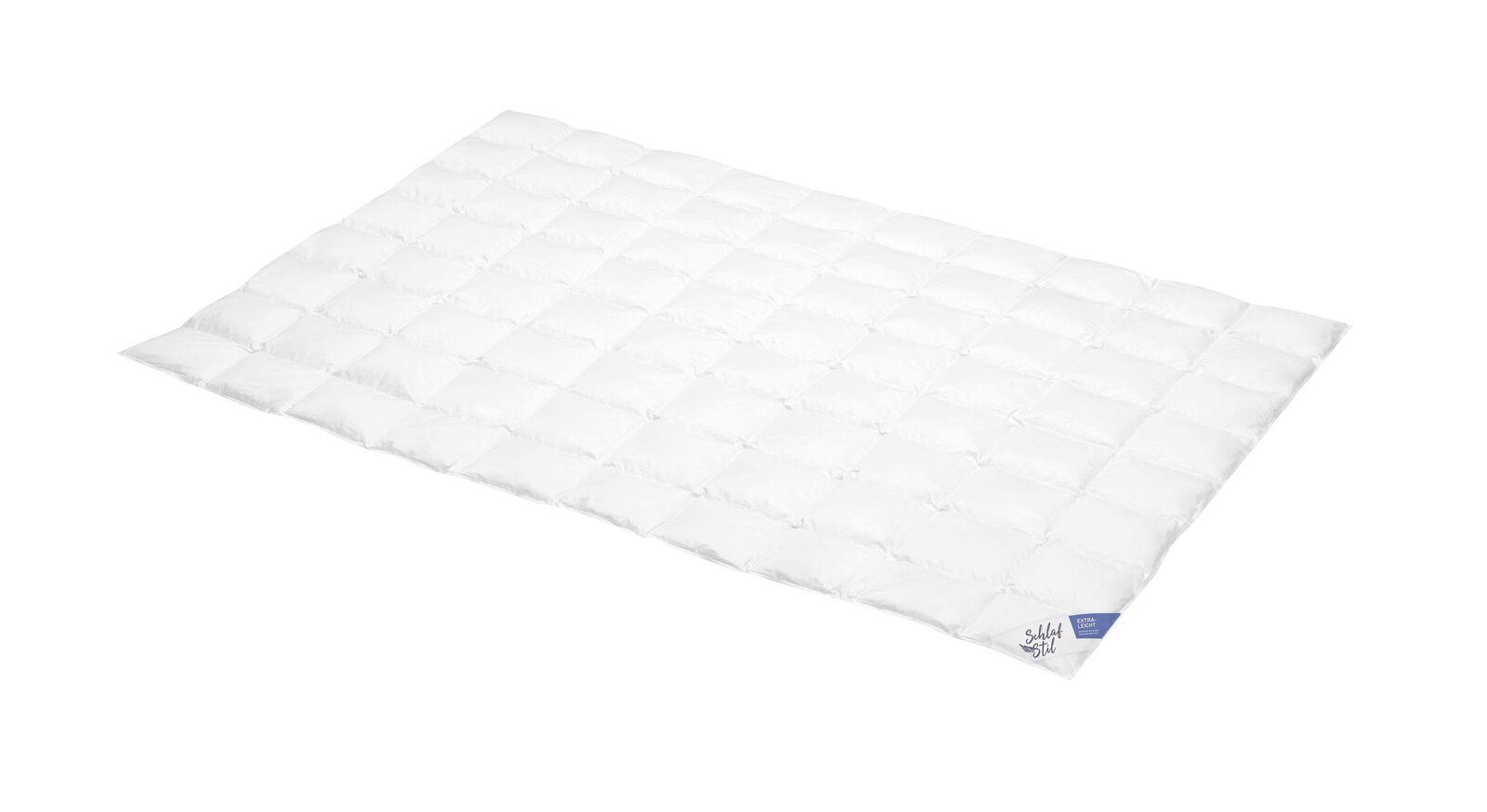 SCHLAFSTIL Daunen-Bettdecke D800 D700 D600 und D400 extra leicht