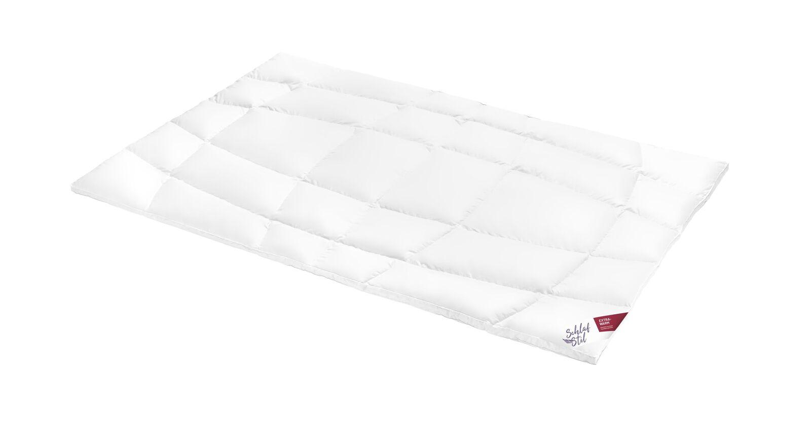 SCHLAFSTIL Daunen-Bettdecke D800 extra warm mit bauschiger Füllung