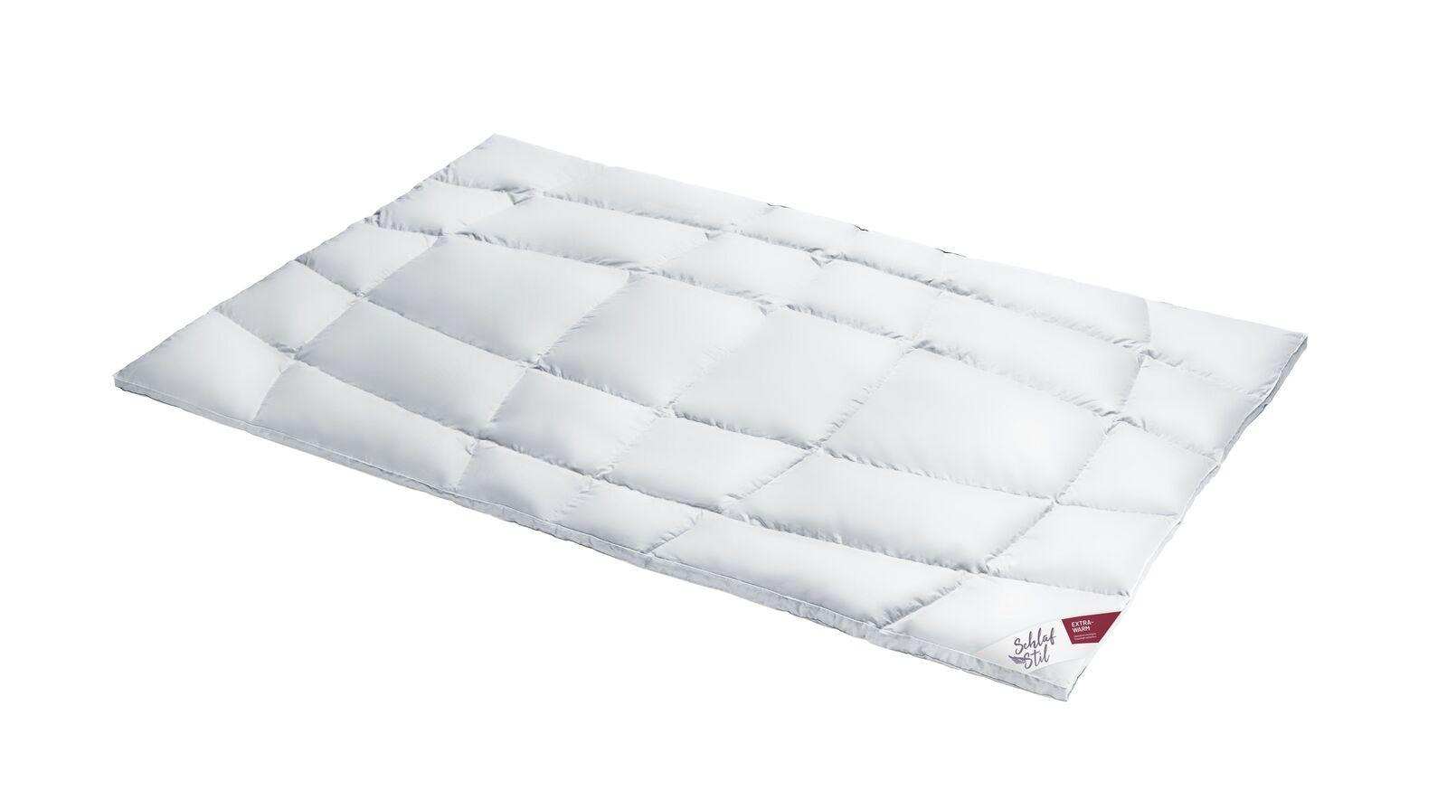 SCHLAFSTIL Eiderdaunen-Bettdecke D1000 extra warm voluminös und leicht