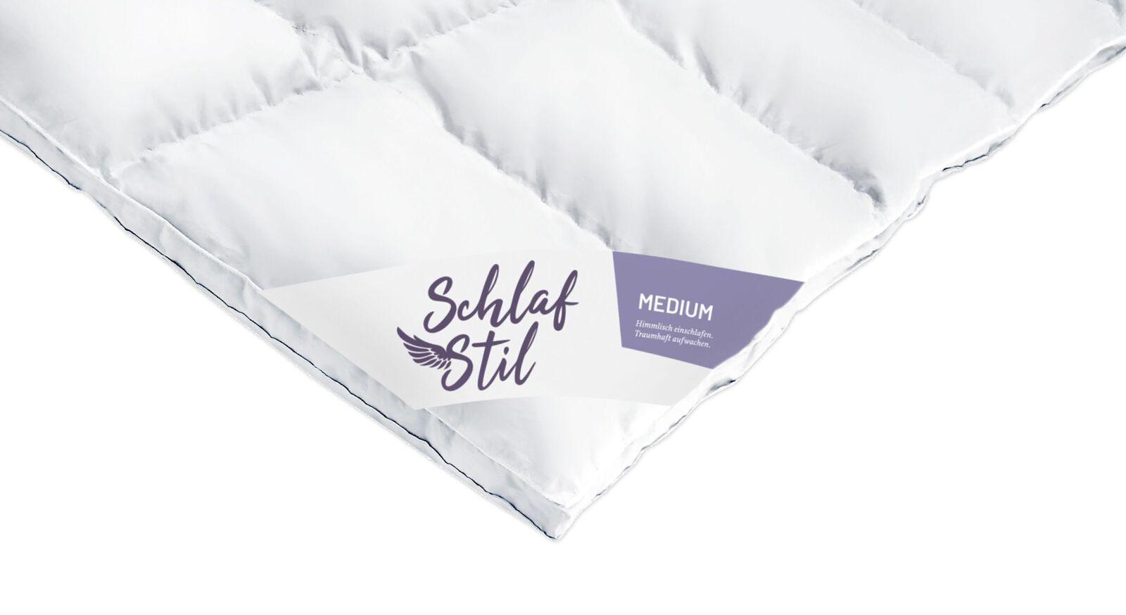 SCHLAFSTIL Eiderdaunen-Bettdecke D1000 medium als praktischer Alleskönner