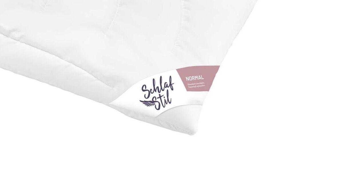 SCHLAFSTIL Kamelhaar-Flaum-Bettdecke N500 normal mit Steppung