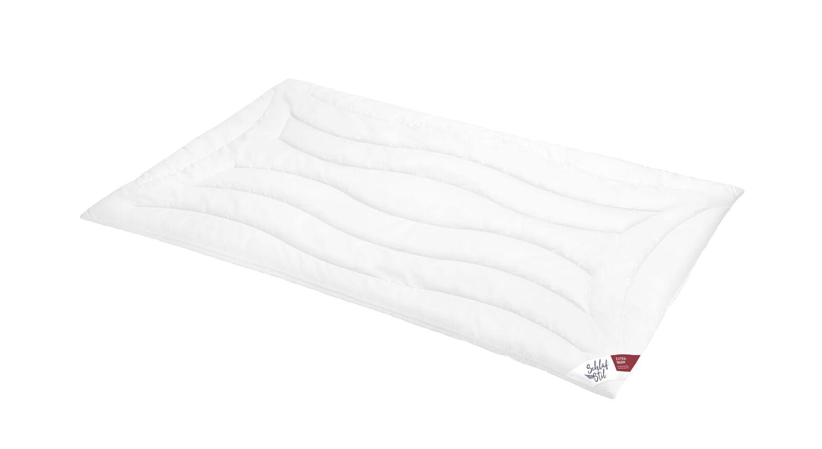 SCHLAFSTIL Markenfaser-Bettdecke F300 extra warm gegen Frieren im Winter