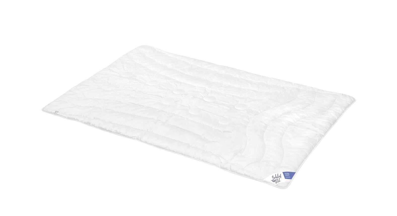 SCHLAFSTIL Markenfaser-Bettdecke F400 extra leicht ideal bei Hitze
