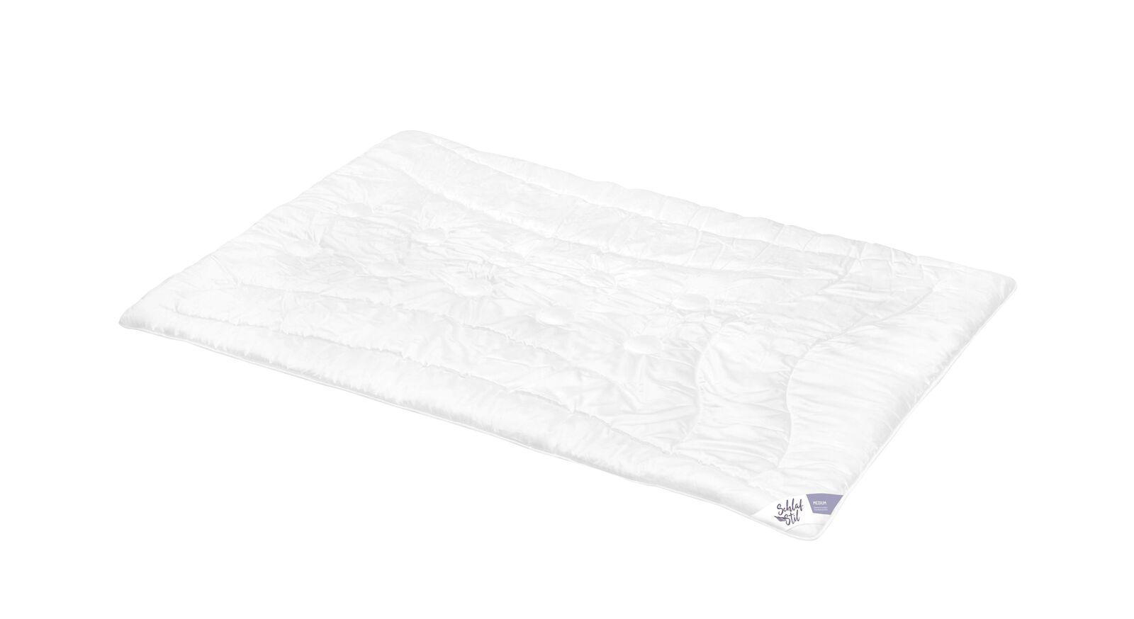 SCHLAFSTIL Markenfaser-Bettdecke F400 medium leicht zu Reinigen