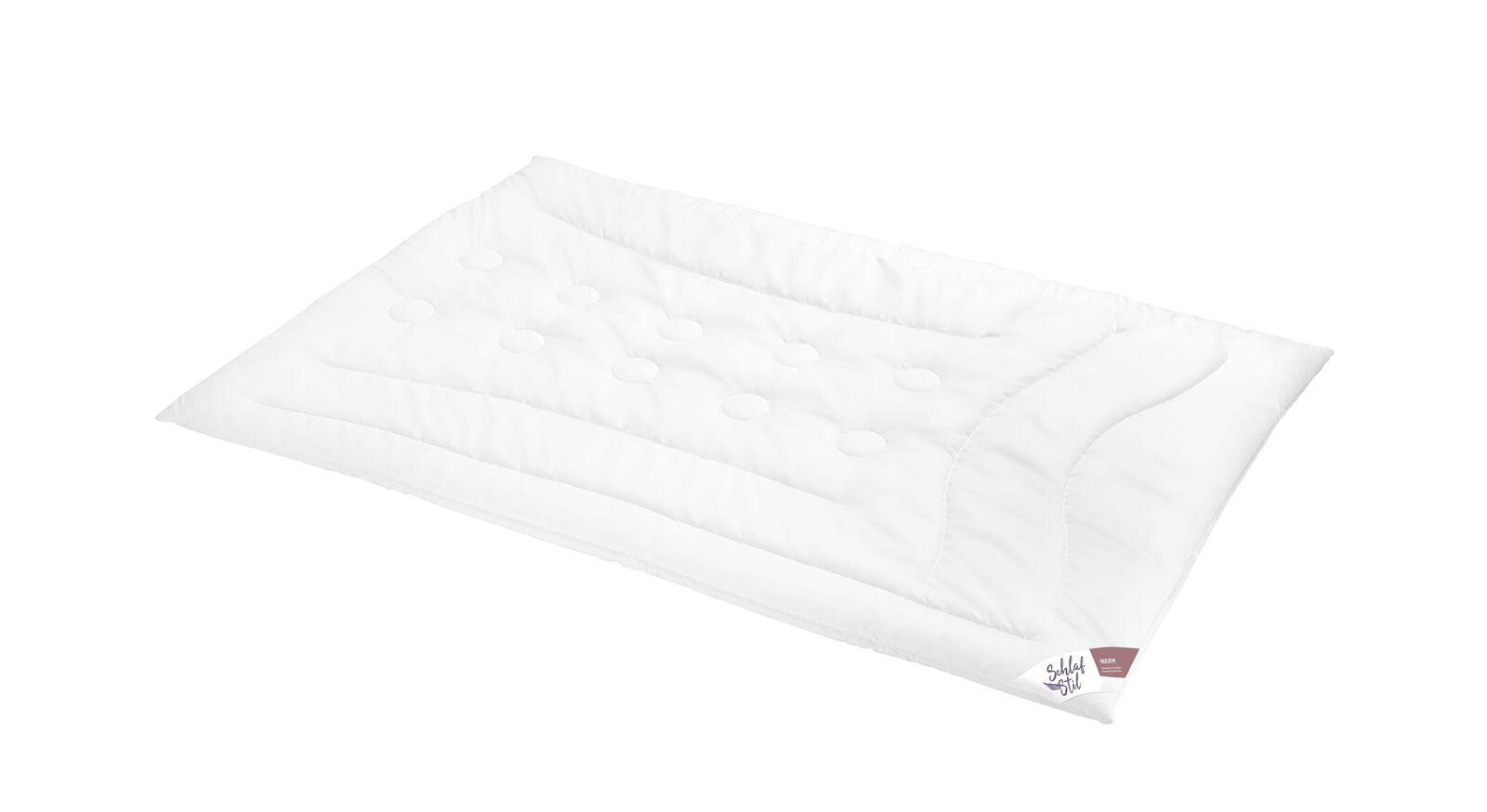 SCHLAFSTIL Markenfaser-Bettdecke F400 warm für hohen Wärmebedarf