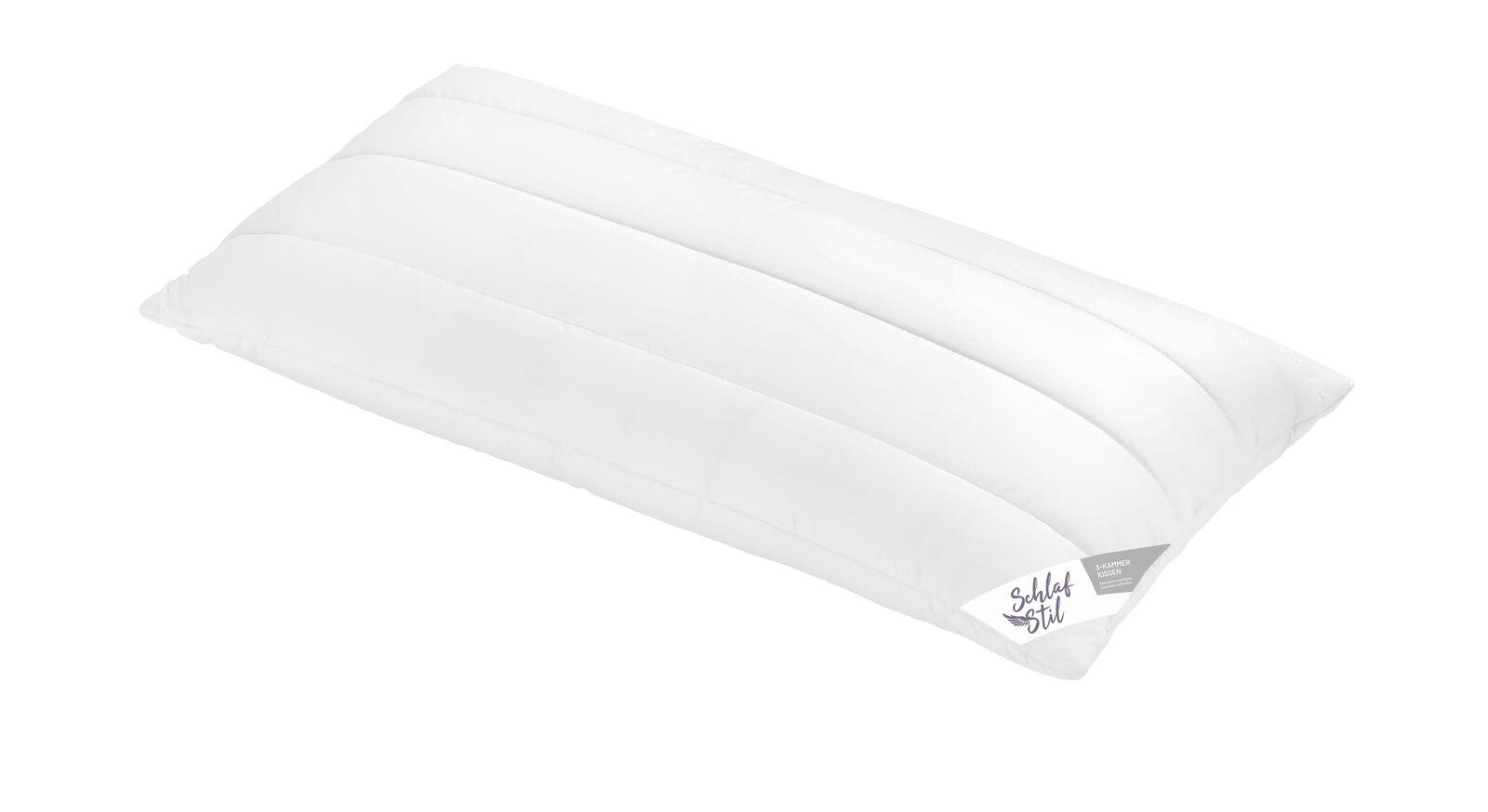 SCHLAFSTIL Markenfaser-Kissen F200 in 40x80 cm mit gestepptem Bezug