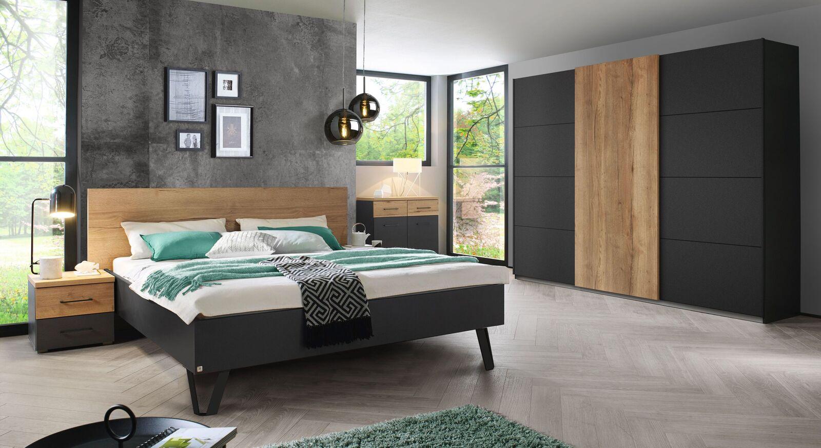 Preiswertes Schlafzimmer Azra mit modernen Möbeln