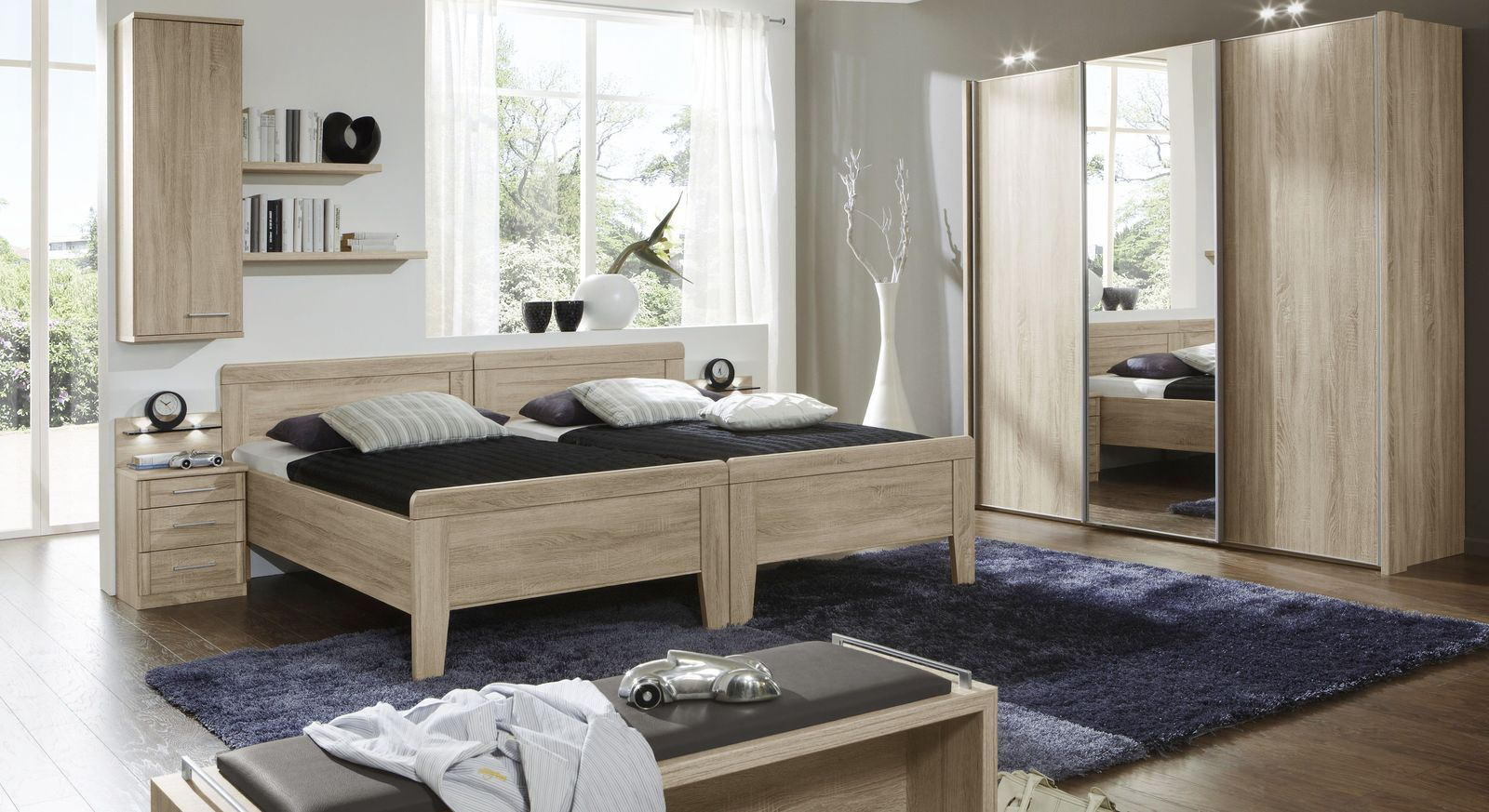 hoher wandschrank zum h ngen mit fachboden eiche dekor palmira. Black Bedroom Furniture Sets. Home Design Ideas