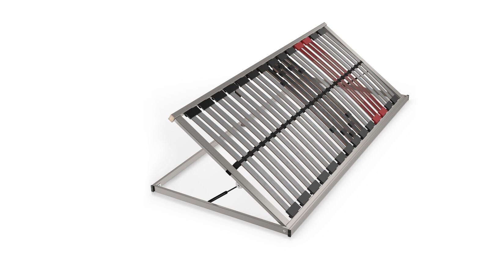 SCHLARAFFIA Bettkasten-Lattenrost Classic 28 Side Lift mit Holmen aus Buchenschichtholz