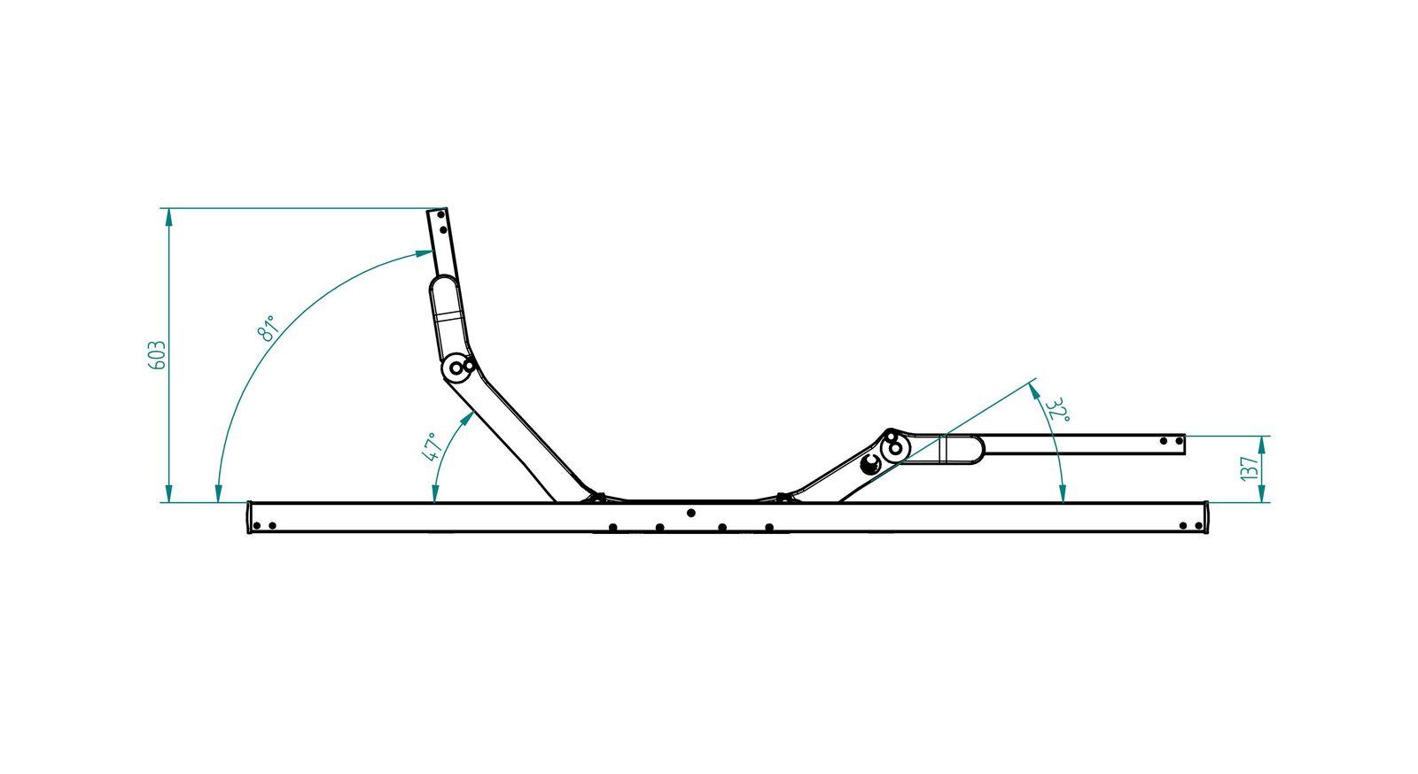 Maximale Verstellum vom SCHLARAFFIA Elektro-Lattenrost ComFEEL 40 Plus M Move