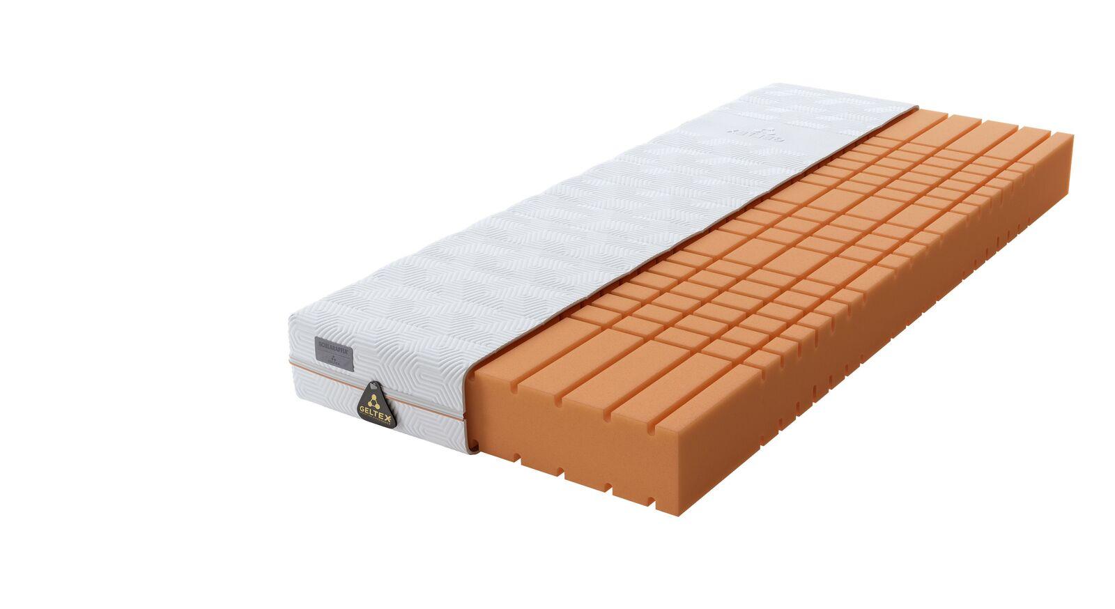 SCHLARAFFIA Gelschaum-Matratze GELTEX Quantum Pure 200 mit innovativem Würfelschnitt